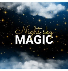 Infinity Magic Night Sky Cloud Blue Background and vector image