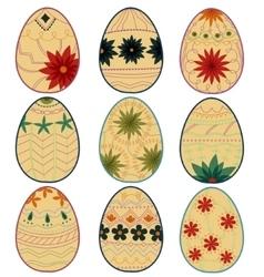 Retro easter eggs vector image vector image