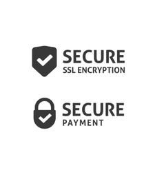 Secure connection icon secured ssl shield vector image vector image