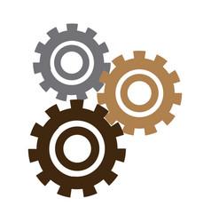 set gears mechanical team work concept vector image