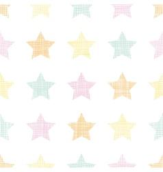Stars textile textured pastel seamless pattern vector image