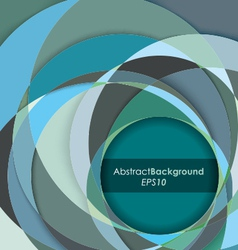 Teal Fractal Abstract Background vector image