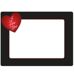 valentines day photo frame vector image vector image
