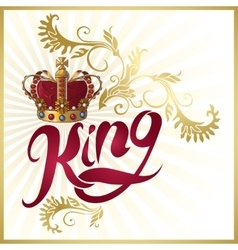 Attribute of king design vector