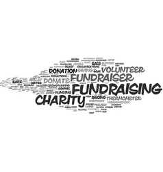 Fundraiser word cloud concept vector