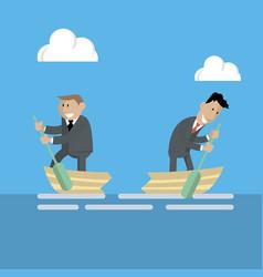 businessmen break up business vector image vector image