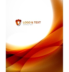 Fire orange abstract swirl template vector image vector image