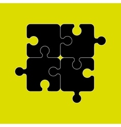 Puzzle game graphic icon vector image