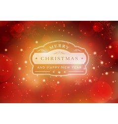 Red Christmas typography background vector image vector image