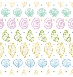 Seashells stripes line art seamless pattern vector image vector image