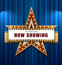 theater sign star vector image