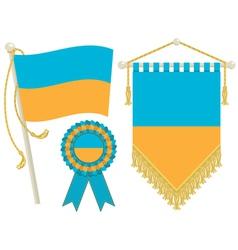 ukraine flags vector image vector image