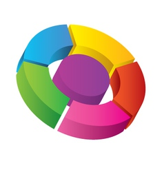 3d diagram vector image