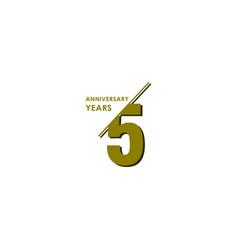 5 years anniversary celebration template design vector