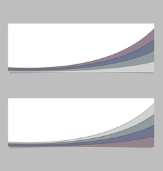 Abstract banner template from curved stripe vector