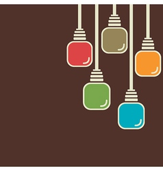 abstract colorful bulb background vector image
