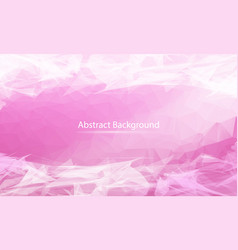 abstract pink polygonal surface background low vector image