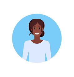 African american businesswoman face avatar vector