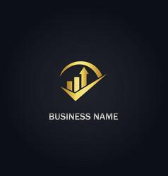 Arrow business growth logo vector