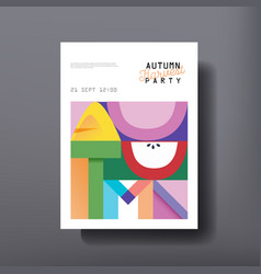 Autumn template design for brochure poster vector