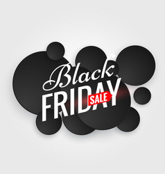 black friday sale poster with multiple black dots vector image