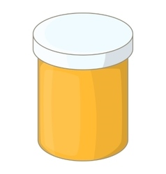 Bottle with tablets icon cartoon style vector