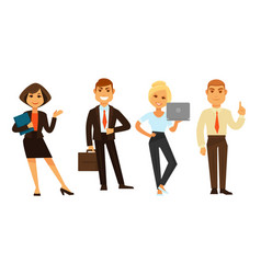 Business people group of four isolated on white vector
