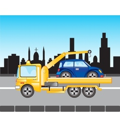 Car to evacuations in city vector