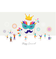 Carnival party purim background with tiny vector