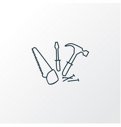 carpentry icon line symbol premium quality vector image