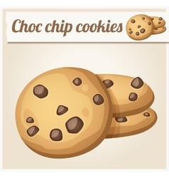 Choc chip cookies Detailed Icon vector image