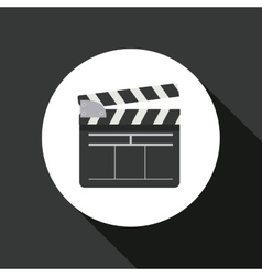 clapperboard icon design vector image vector image