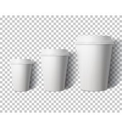 Coffee Cup Set Isolated on Transparent PS vector