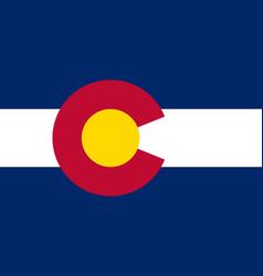 Colorado state flag usa state symbol vector