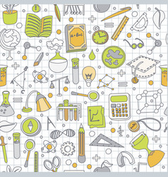 colored back to school pattern with school vector image