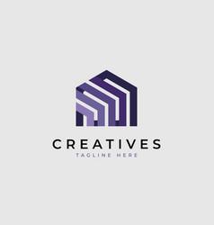 Creative house logo vector