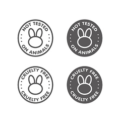 Cruelty free not tested on animal sign icon symbol vector image