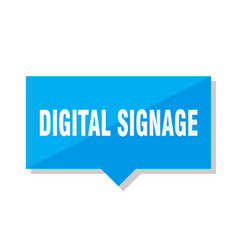 Digital signage price tag vector