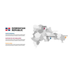 Dominican republic map infographic template vector