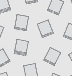 E-Book Reader minimal seamless pattern vector