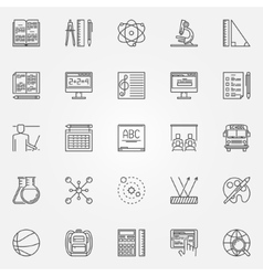Education and school icons set vector