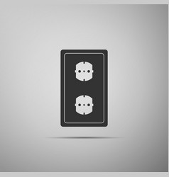Electrical outlet icon power socket rosette sign vector