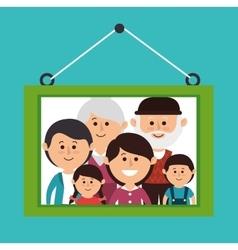 Family colorful cartoon vector