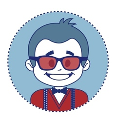 Fashionable and happy showman in sunglasses vector image
