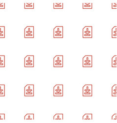 file icon pattern seamless white background vector image