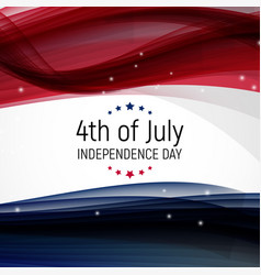 fourth july independence day united vector image