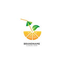 Fresh juice logo design fruit symbol icon vector