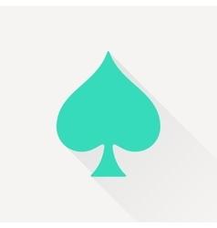 game spade icon vector image