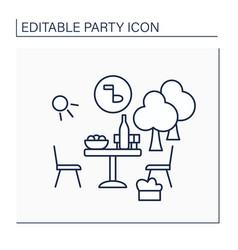Garden party line icon vector