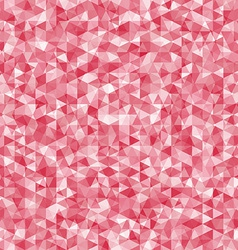 Geometric disorder of the red triangles pattern vector image